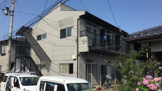 アパート塗装工事前